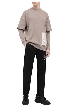 Мужские хлопковые брюки TEE LIBRARY черного цвета, арт. TSK-PT-47 | Фото 2