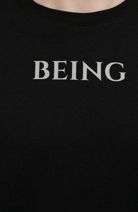Мужская хлопковая футболка TEE LIBRARY черного цвета, арт. TSK-T0-28 | Фото 5 (Рукава: Короткие; Длина (для топов): Стандартные; Стили: Гранж; Принт: С принтом; Материал внешний: Хлопок)