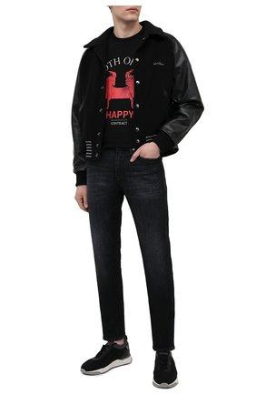 Мужская хлопковая футболка TEE LIBRARY черного цвета, арт. TSK-T0-30 | Фото 2 (Длина (для топов): Стандартные; Рукава: Короткие; Материал внешний: Хлопок; Принт: С принтом; Стили: Гранж)