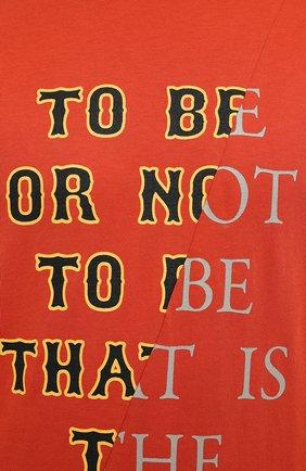 Мужская хлопковая футболка TEE LIBRARY оранжевого цвета, арт. TSK-TS-01 | Фото 5 (Рукава: Короткие; Длина (для топов): Стандартные; Принт: С принтом; Материал внешний: Хлопок; Стили: Кэжуэл)