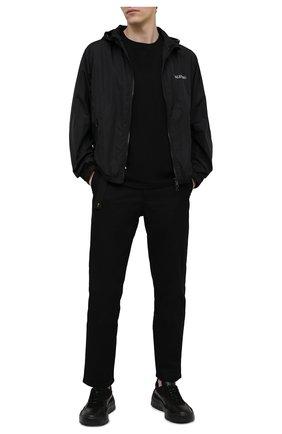 Мужская хлопковая футболка TEE LIBRARY черного цвета, арт. TSK-TS-02 | Фото 2
