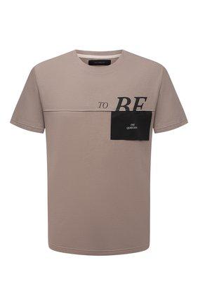 Мужская хлопковая футболка TEE LIBRARY бежевого цвета, арт. TSK-TS-03 | Фото 1