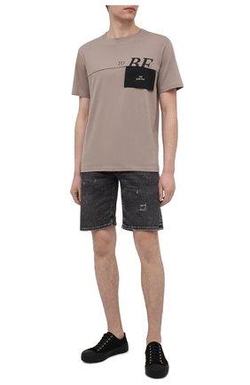 Мужская хлопковая футболка TEE LIBRARY бежевого цвета, арт. TSK-TS-03 | Фото 2