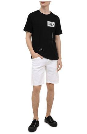 Мужская хлопковая футболка TEE LIBRARY черного цвета, арт. TSK-TS-15 | Фото 2