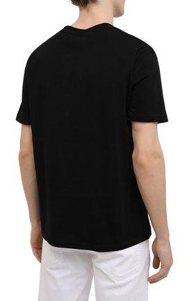 Мужская хлопковая футболка TEE LIBRARY черного цвета, арт. TSK-TS-15 | Фото 4 (Рукава: Короткие; Длина (для топов): Стандартные; Стили: Гранж, Кэжуэл; Принт: С принтом; Материал внешний: Хлопок)