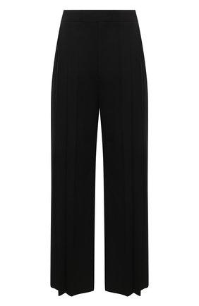 Мужские брюки VALENTINO черного цвета, арт. VV0RBG516DP   Фото 1 (Материал внешний: Шерсть, Синтетический материал; Длина (брюки, джинсы): Стандартные; Случай: Повседневный; Стили: Минимализм)
