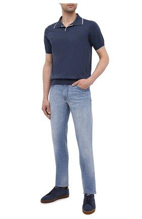 Мужское хлопковое поло FIORONI синего цвета, арт. MK20260C2 | Фото 2