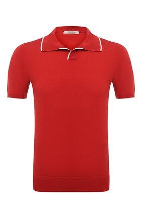 Мужское хлопковое поло FIORONI красного цвета, арт. MK20260C2 | Фото 1