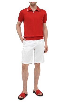 Мужское хлопковое поло FIORONI красного цвета, арт. MK20260C2 | Фото 2
