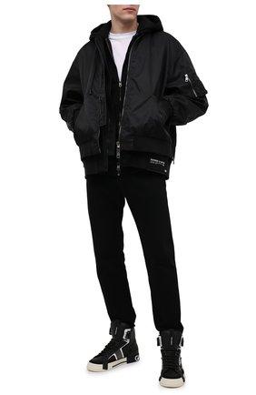Мужские кожаные кеды custom 2.zero DOLCE & GABBANA черного цвета, арт. CS1870/A0223 | Фото 2