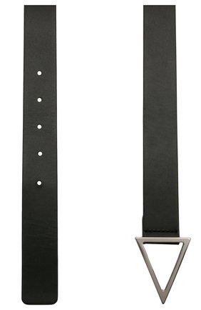 Мужской кожаный ремень BOTTEGA VENETA черного цвета, арт. 657154/VMAU3 | Фото 2