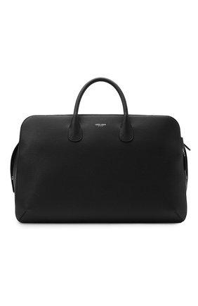 Мужская кожаная дорожная сумка GIORGIO ARMANI черного цвета, арт. Y2Q212/YQA9E | Фото 1