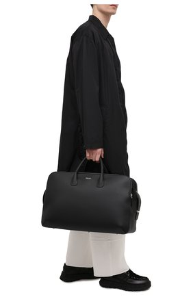 Мужская кожаная дорожная сумка GIORGIO ARMANI черного цвета, арт. Y2Q212/YQA9E | Фото 2