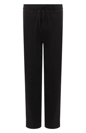 Мужские брюки EMPORIO ARMANI черного цвета, арт. A1P740/A1066 | Фото 1 (Материал внешний: Хлопок, Синтетический материал; Длина (брюки, джинсы): Стандартные; Случай: Повседневный; Стили: Кэжуэл)