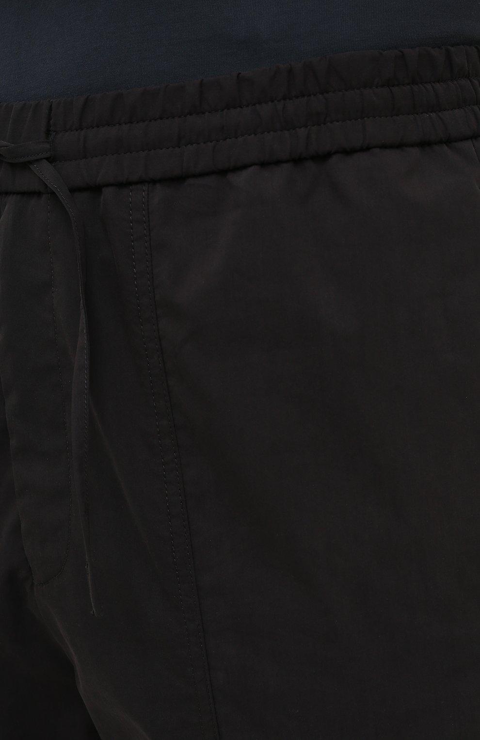 Мужские брюки EMPORIO ARMANI черного цвета, арт. A1P740/A1066   Фото 5 (Длина (брюки, джинсы): Стандартные; Случай: Повседневный; Материал внешний: Синтетический материал, Хлопок; Стили: Кэжуэл)