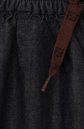 Детские хлопковые брюки FENDI темно-синего цвета, арт. BUF044/AEY4/12M-24M   Фото 3