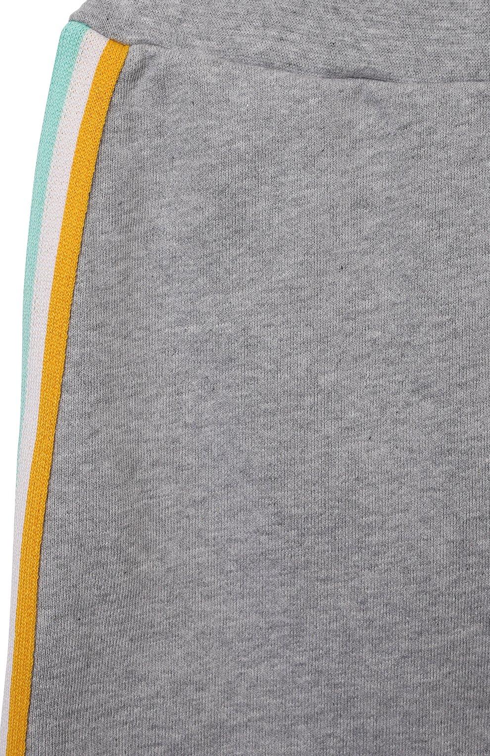 Детские хлопковые джоггеры FENDI серого цвета, арт. BUF027/5V0/12M-24M | Фото 3