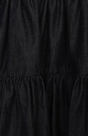 Женский хлопковый сарафан FENDI темно-синего цвета, арт. BFB353/AEY4/12M-24M | Фото 3