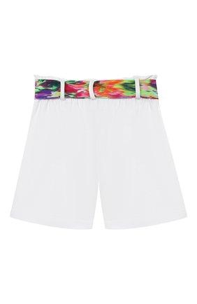Детские хлопковые шорты MSGM KIDS белого цвета, арт. MS026856 | Фото 2