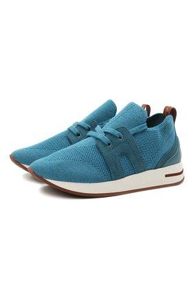 Детские кроссовки LORO PIANA синего цвета, арт. FAL0921   Фото 1