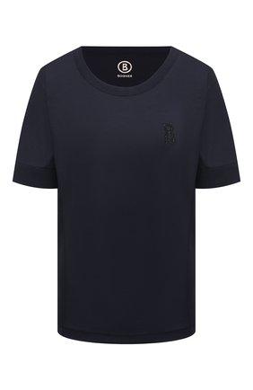 Женская футболка BOGNER темно-синего цвета, арт. 56432703   Фото 1
