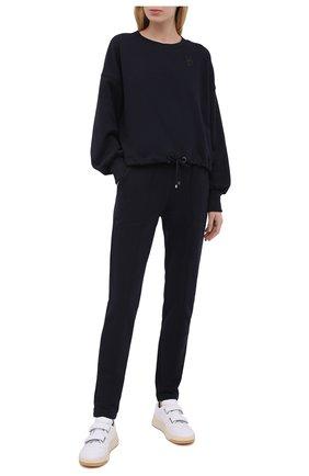 Женские хлопковые брюки BOGNER темно-синего цвета, арт. 16976678 | Фото 2