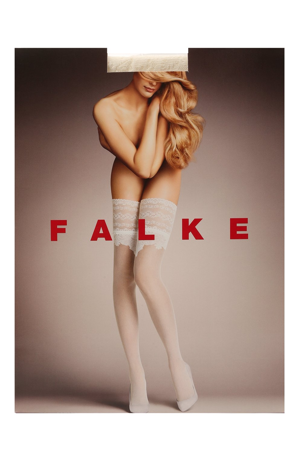 Женские капроновые чулки FALKE белого цвета, арт. 42014 | Фото 1