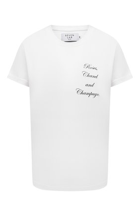 Женская хлопковая футболка SEVEN LAB белого цвета, арт. T21-RCC white   Фото 1