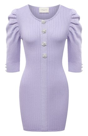 Женское хлопковое платье GIUSEPPE DI MORABITO сиреневого цвета, арт. SS21080KN-79 | Фото 1