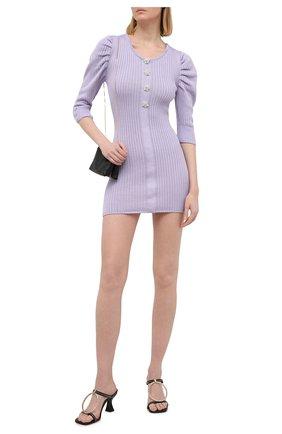 Женское хлопковое платье GIUSEPPE DI MORABITO сиреневого цвета, арт. SS21080KN-79 | Фото 2