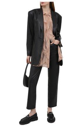 Женские кожаные лоферы elba GIVENCHY черного цвета, арт. BE200XE0XV   Фото 2