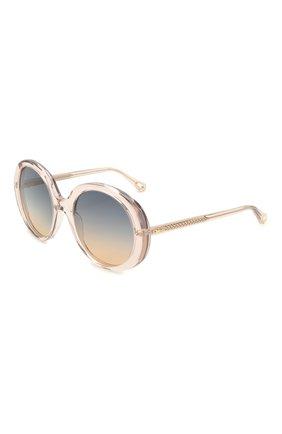 Женские солнцезащитные очки CHLOÉ розового цвета, арт. CH0007S | Фото 1