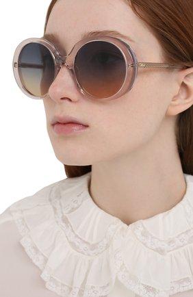 Женские солнцезащитные очки CHLOÉ розового цвета, арт. CH0007S | Фото 2