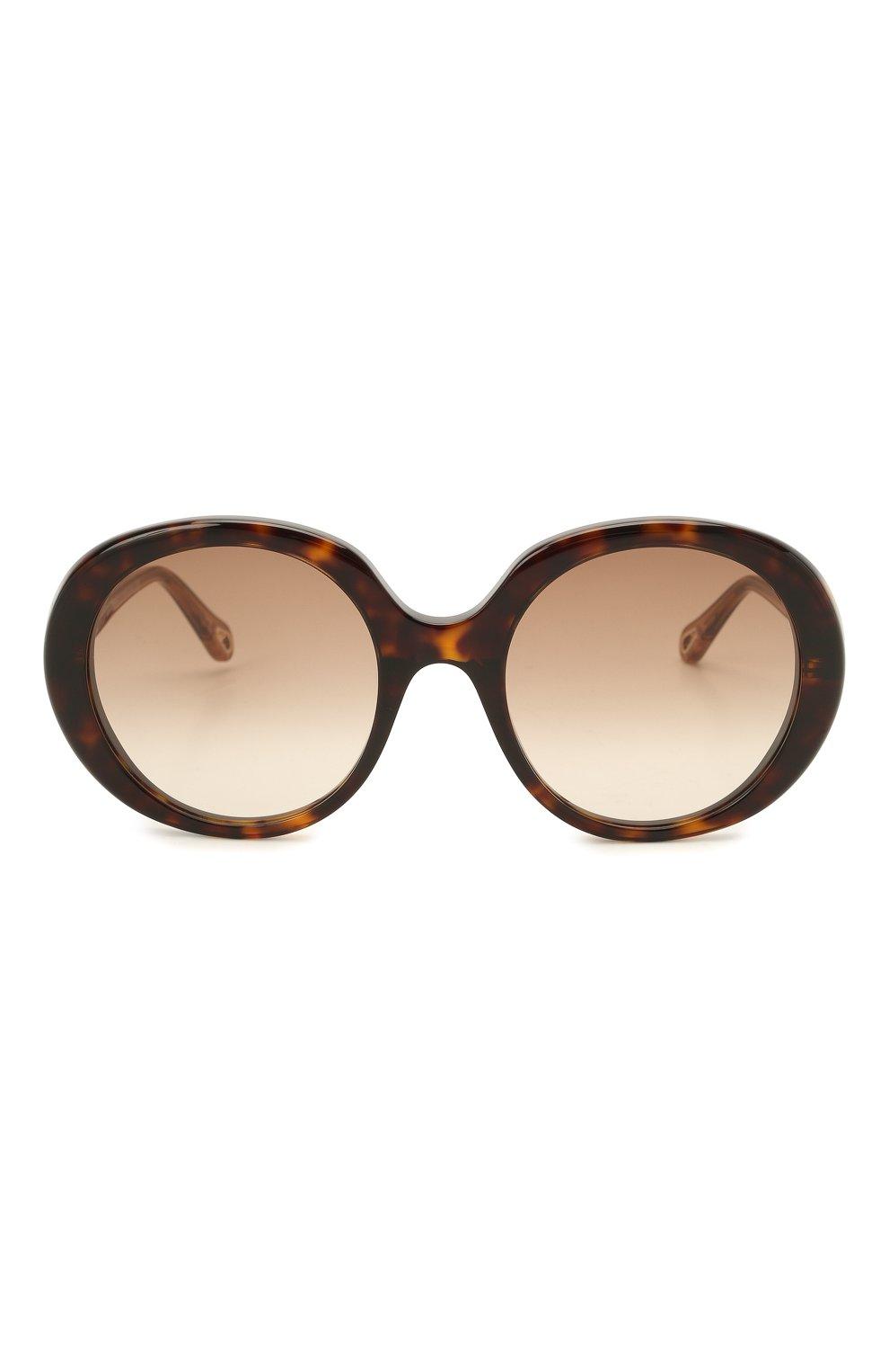 Женские солнцезащитные очки CHLOÉ коричневого цвета, арт. CH0007S | Фото 3