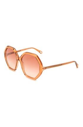 Женские солнцезащитные очки CHLOÉ оранжевого цвета, арт. CH0008S   Фото 1