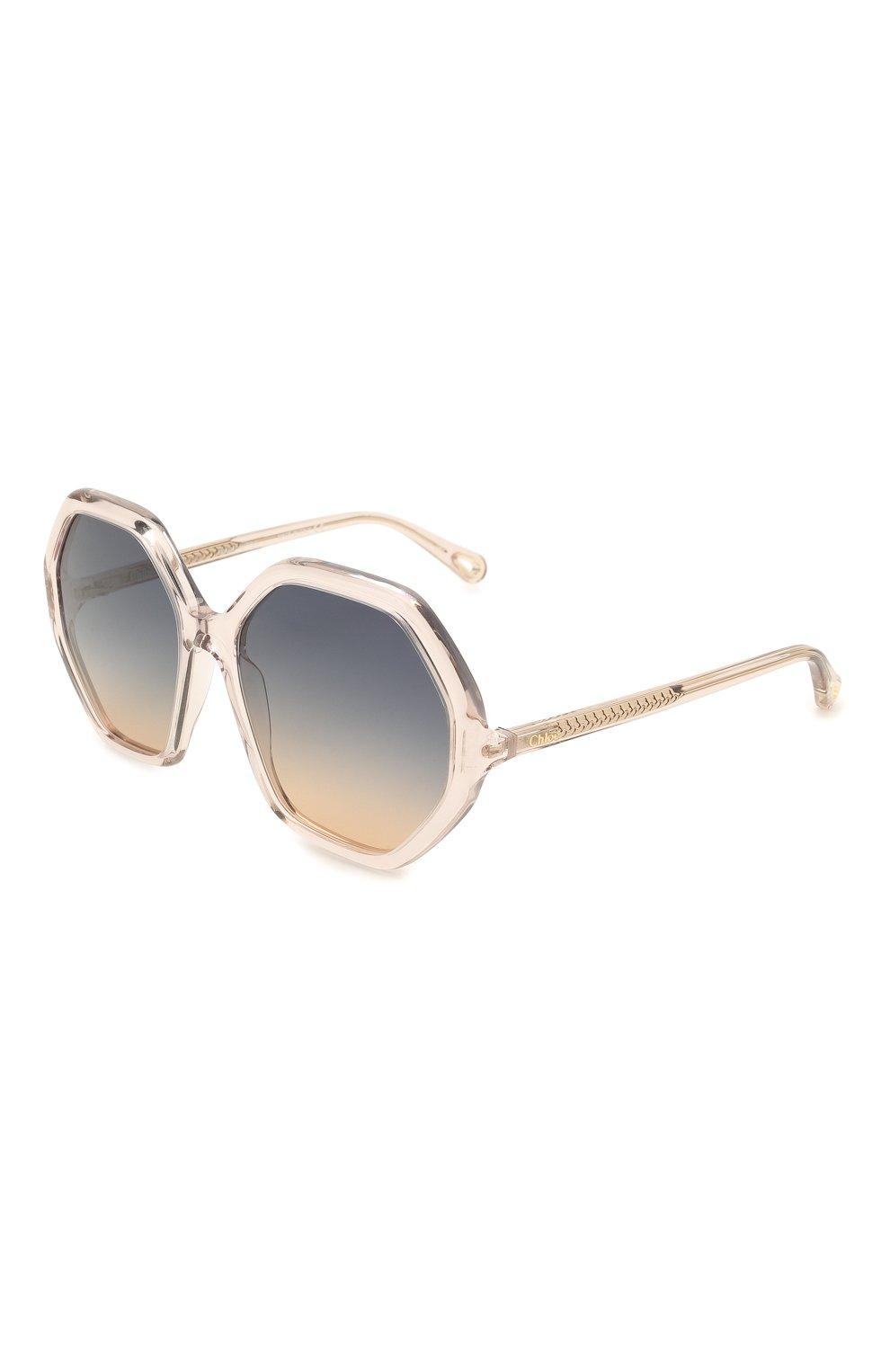 Женские солнцезащитные очки CHLOÉ розового цвета, арт. CH0008S   Фото 1