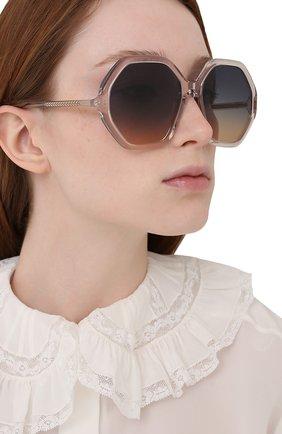Женские солнцезащитные очки CHLOÉ розового цвета, арт. CH0008S   Фото 2