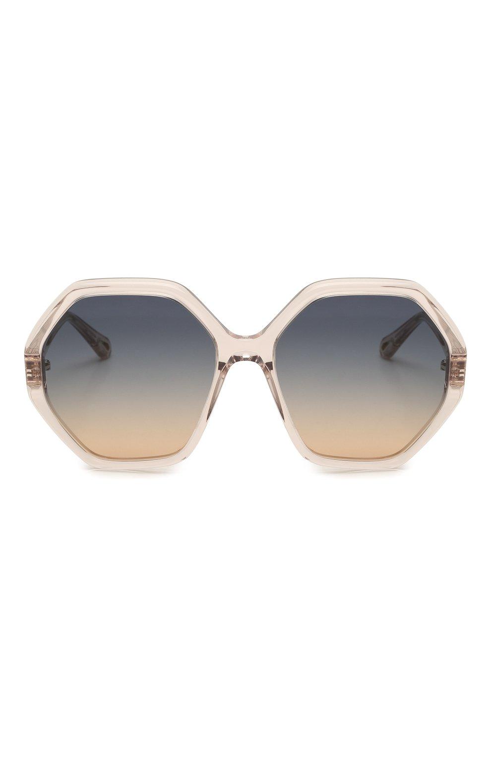 Женские солнцезащитные очки CHLOÉ розового цвета, арт. CH0008S   Фото 3