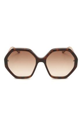 Женские солнцезащитные очки CHLOÉ коричневого цвета, арт. CH0008S | Фото 3