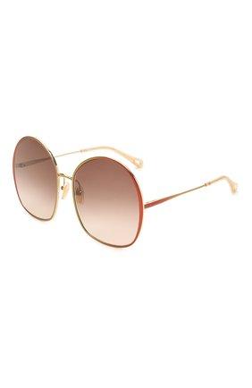 Женские солнцезащитные очки CHLOÉ коричневого цвета, арт. CH0014S   Фото 1