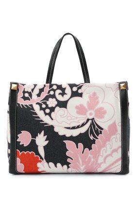 Женский сумка-шопер valentino garavani grande plage VALENTINO черного цвета, арт. VW2B0D21/ZKM | Фото 1