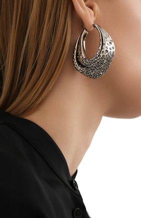Женские серьги ALEXANDER MCQUEEN серебряного цвета, арт. 659639/J160Y | Фото 2