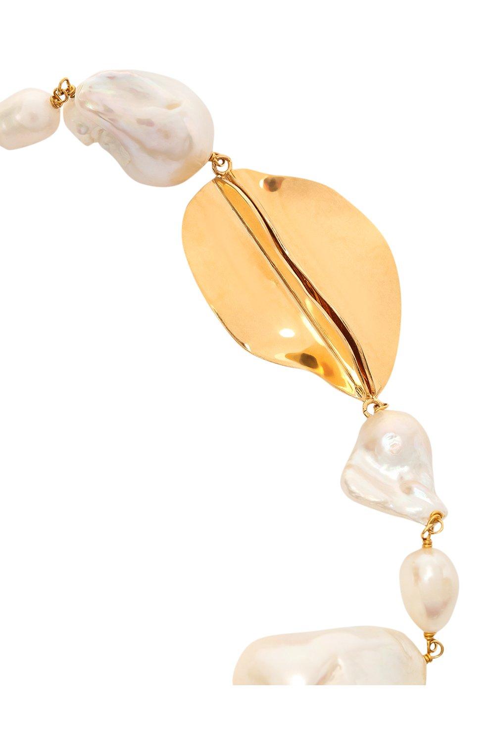 Женское колье JIL SANDER золотого цвета, арт. JSWS831144/WSS80039 | Фото 3
