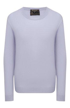Женский шерстяной пуловер LORO PIANA голубого цвета, арт. FAL6605/VVIC   Фото 1