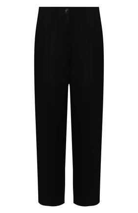 Женские хлопковые брюки TELA черного цвета, арт. 14 8028 01 0157 | Фото 1