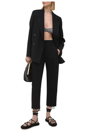 Женские хлопковые брюки TELA черного цвета, арт. 14 8028 01 0157 | Фото 2