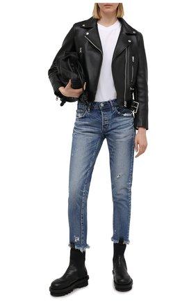 Женские джинсы MOUSSY голубого цвета, арт. 025ESC11-2370 | Фото 2