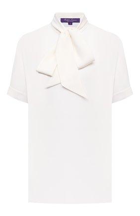 Женская шелковая блузка RALPH LAUREN белого цвета, арт. 290840185 | Фото 1