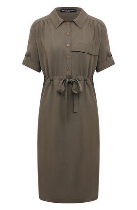 Женское платье PIETRO BRUNELLI хаки цвета, арт. AG0441/LG/TE0010 | Фото 1