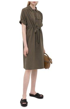 Женское платье PIETRO BRUNELLI хаки цвета, арт. AG0441/LG/TE0010 | Фото 2